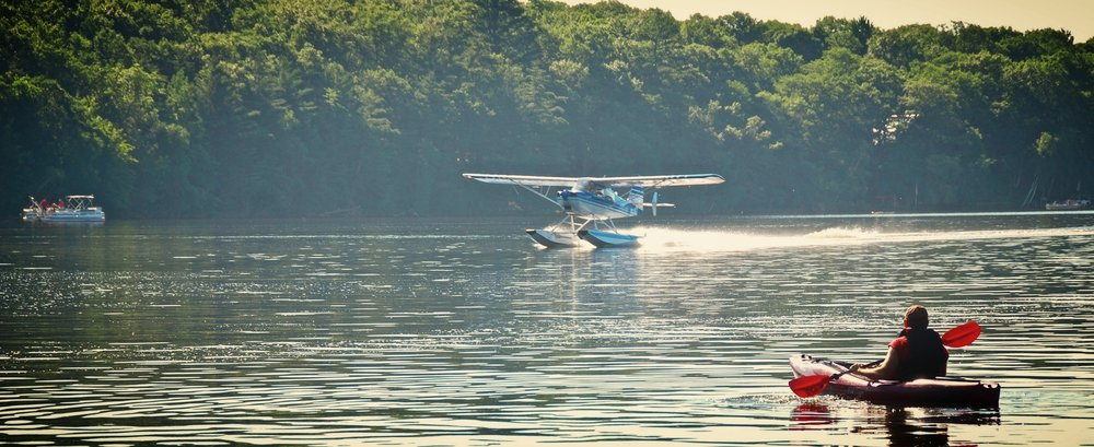 Big Blake Lake is home to a float plane. Such a special experience to watch this majestic plane leave and come home!