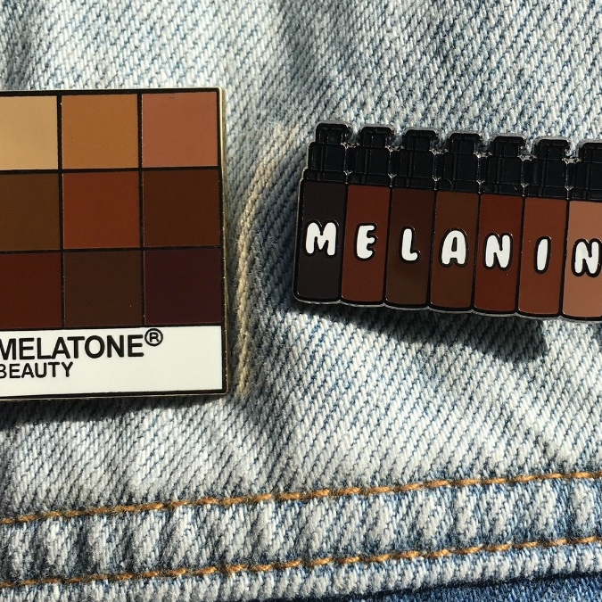Coloring Pins - Accessorizing is a must when putting together an outfit! Coloring Pins is most known for their pro-black pins that features pop-culture references and funny black emojis . You can also buy patches and keychains to put on your jeans or jacket.