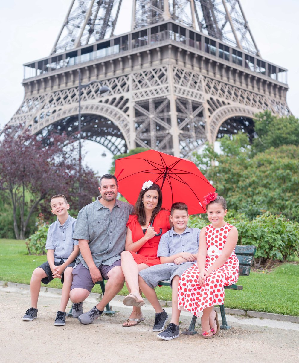dericksen family - What a treat it was to photograph this beautiful family in Paris! Despite there being a few rain showers, their bright outfits and smiles really made my day! The love they have for each other showed in each image and it was a wonderful experience to meet them!See more images here