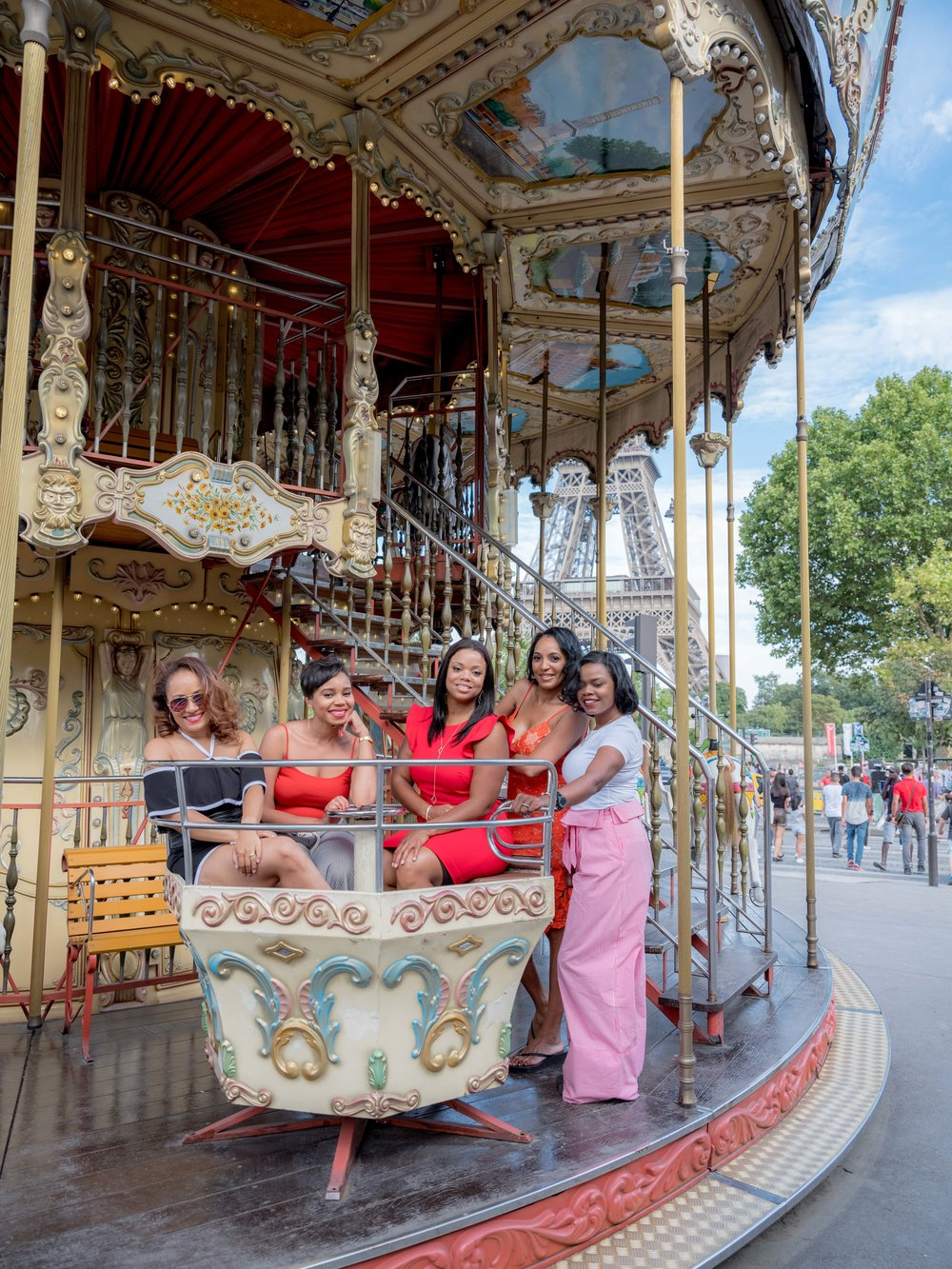 raquel & friends - I absolutely loved meeting these ladies visiting Paris from Cleveland. They were friendly, charming, and filled with energy and positive vibes. We had tons of fun in the Eiffel Tower area, especially photographing the carousel, which dates to the Belle Epoque. Thank you ladies for choosing me to capture your time in Paris!See more images here