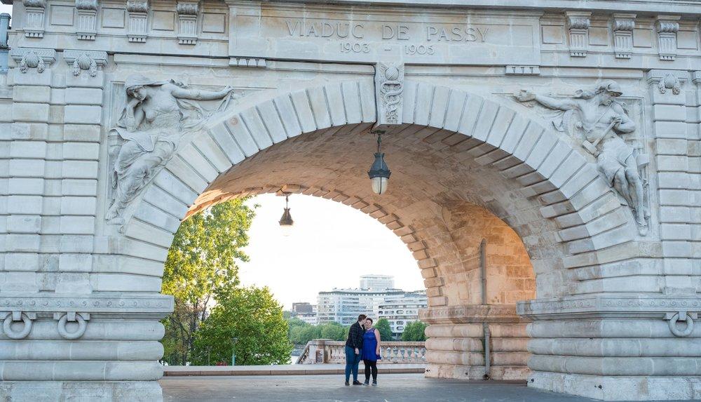 Same sex couple in love in Paris