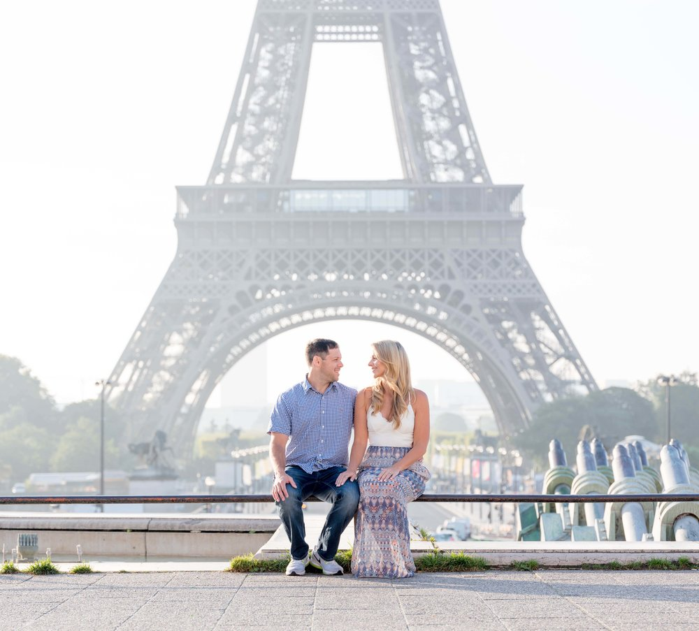 kelly & wes - A beautiful summer morning session at the Eiffel Tower with two beautiful people--what could be better? Their warmth and friendliness was as bright as the sun!See more images here