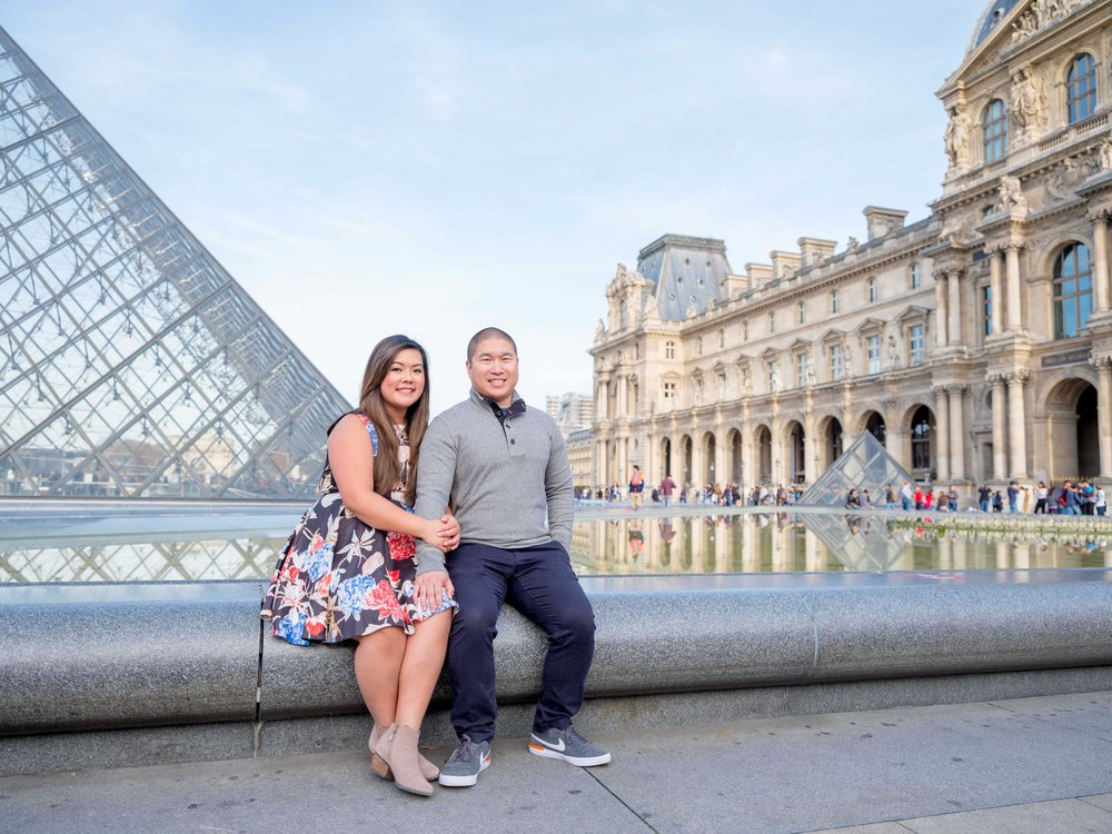 katherine & kevin - A beautiful morning spent at the Eiffel Tower, Tuileiries Gardens and the Louvre, so romantic! I loved working with this fun and easygoing couple.See more images here