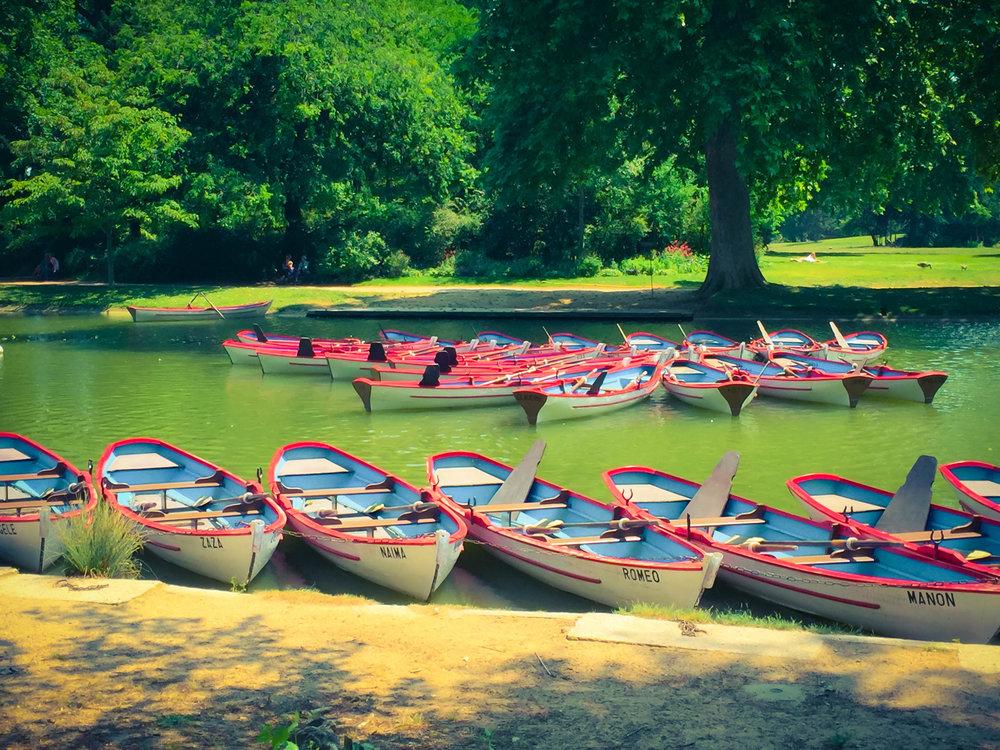 Boats at Bois de Vincennes