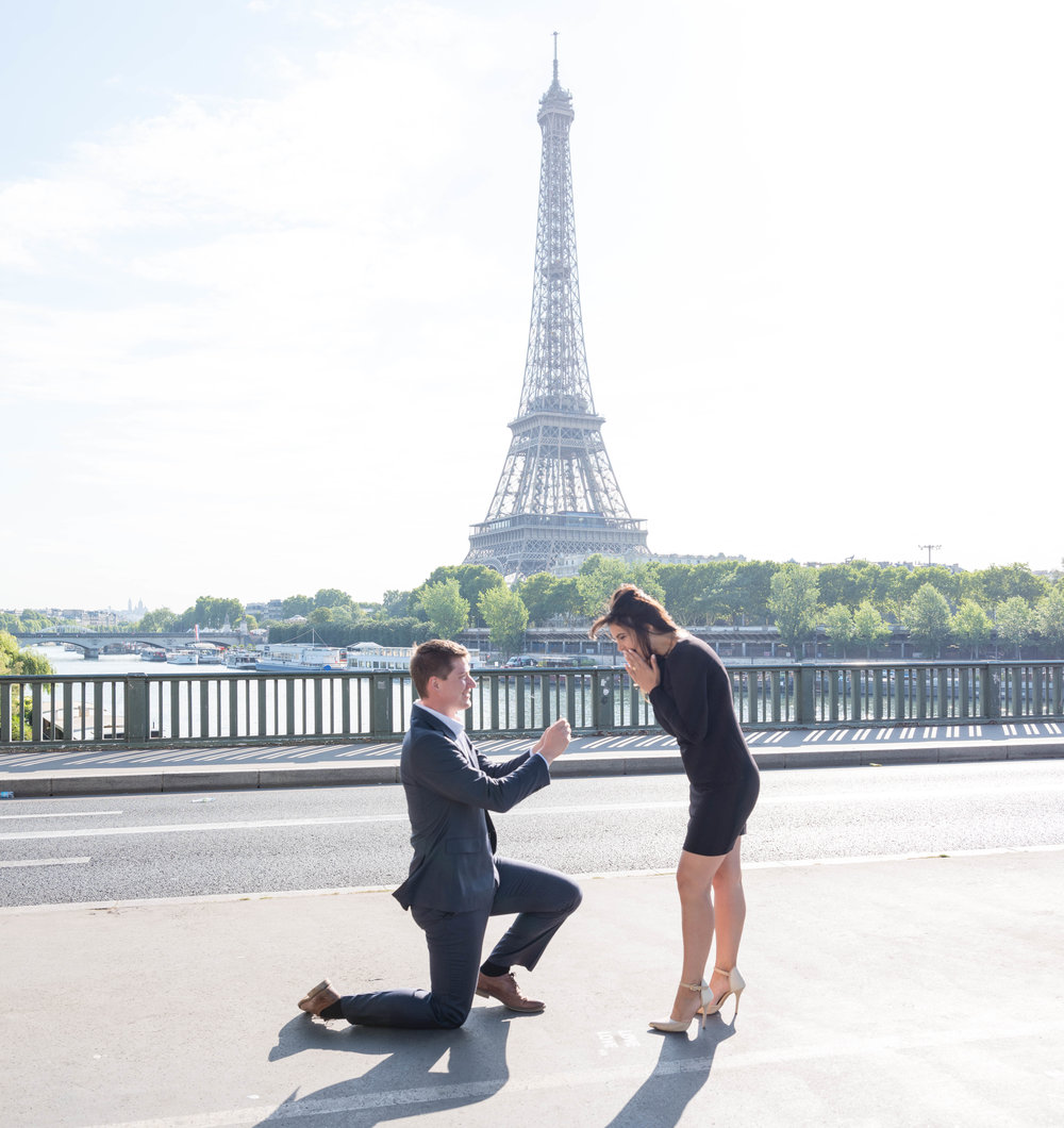 Picture Me Paris 1 Hour Surprise Proposal Photo Session - ThePicture Me Paris 1 Hour Photo Sessionis perfect for your proposal plus a few engagement images.This is our most popular proposal package.You can propose at the Eiffel Tower, or one of the many other beautiful locations in Paris, such as the Louvre or Montmartre.What you receive:You'll receive priceless images of your surprise proposal, a moment in time in this beautiful city of Paris to treasure your entire life. You'll also receive excellent customer service, care, and the utmost in professionalism,as well as my expertise on the best places to propose in Paris.A one-hour Picture Me Paris Surprise Proposal Session includes 50 gorgeous images delivered to you via an online portrait gallery.You can't put a price on your precious memories, book today!