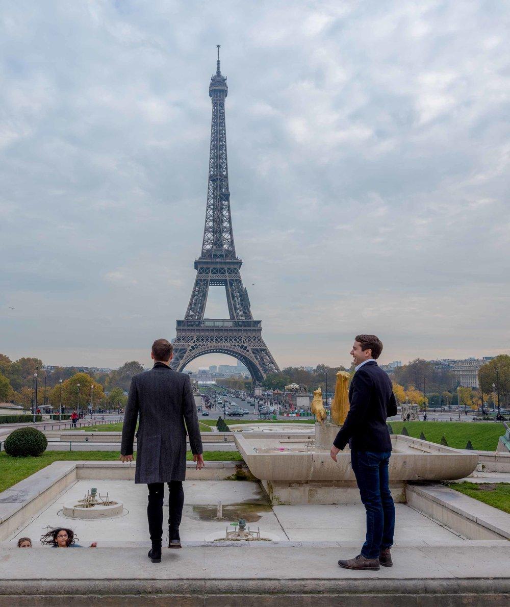 gay couple surprise proposal paris france