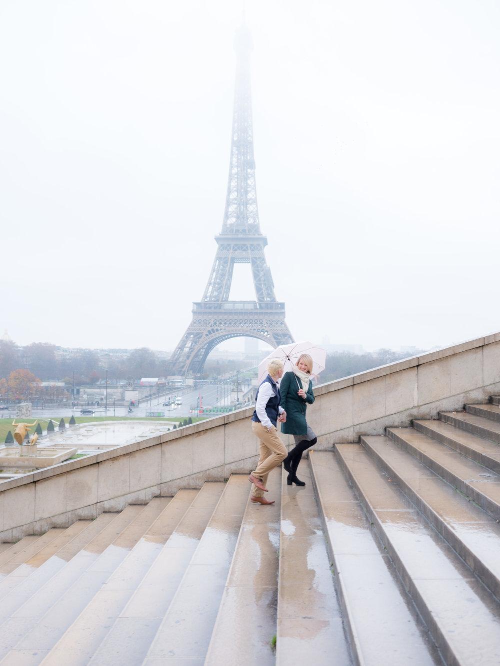 same sex female couple eiffel tower paris