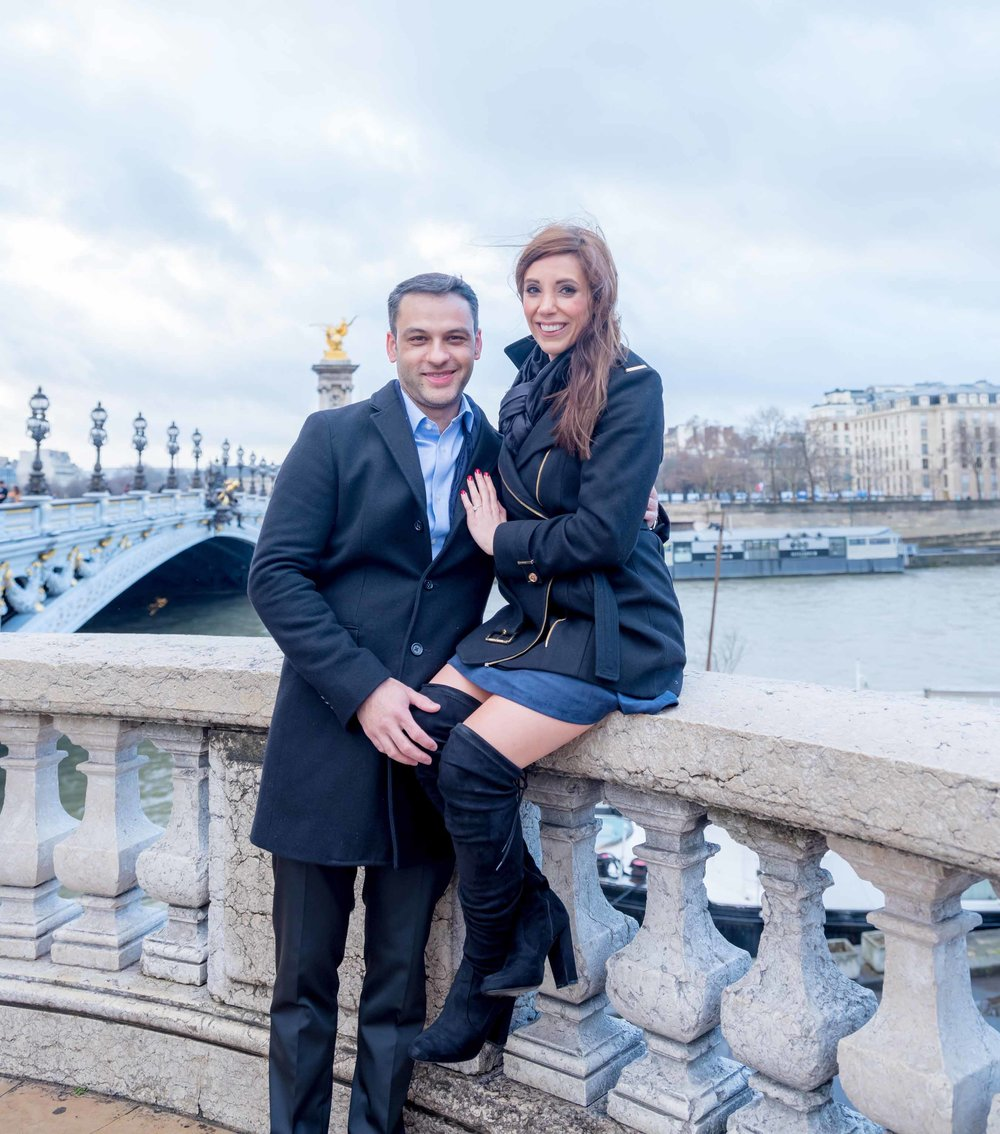 romantic engagement photo shoot in paris france