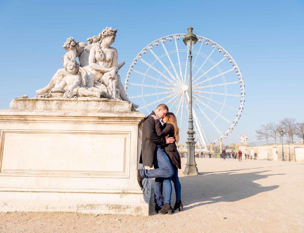 surprise proposal paris france
