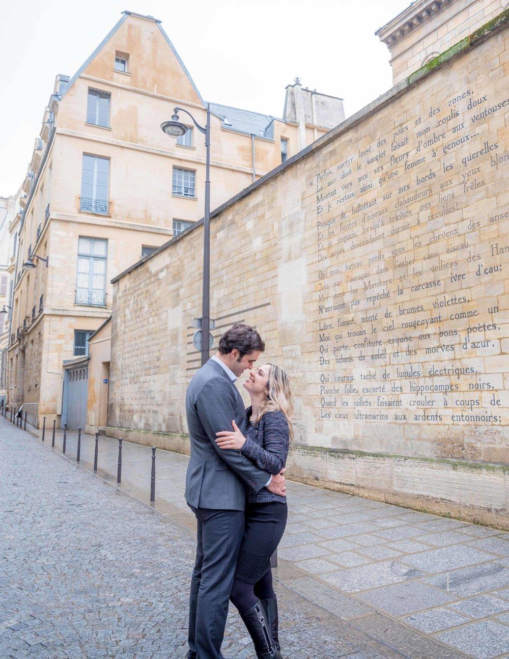 surprise proposal couples photography paris france