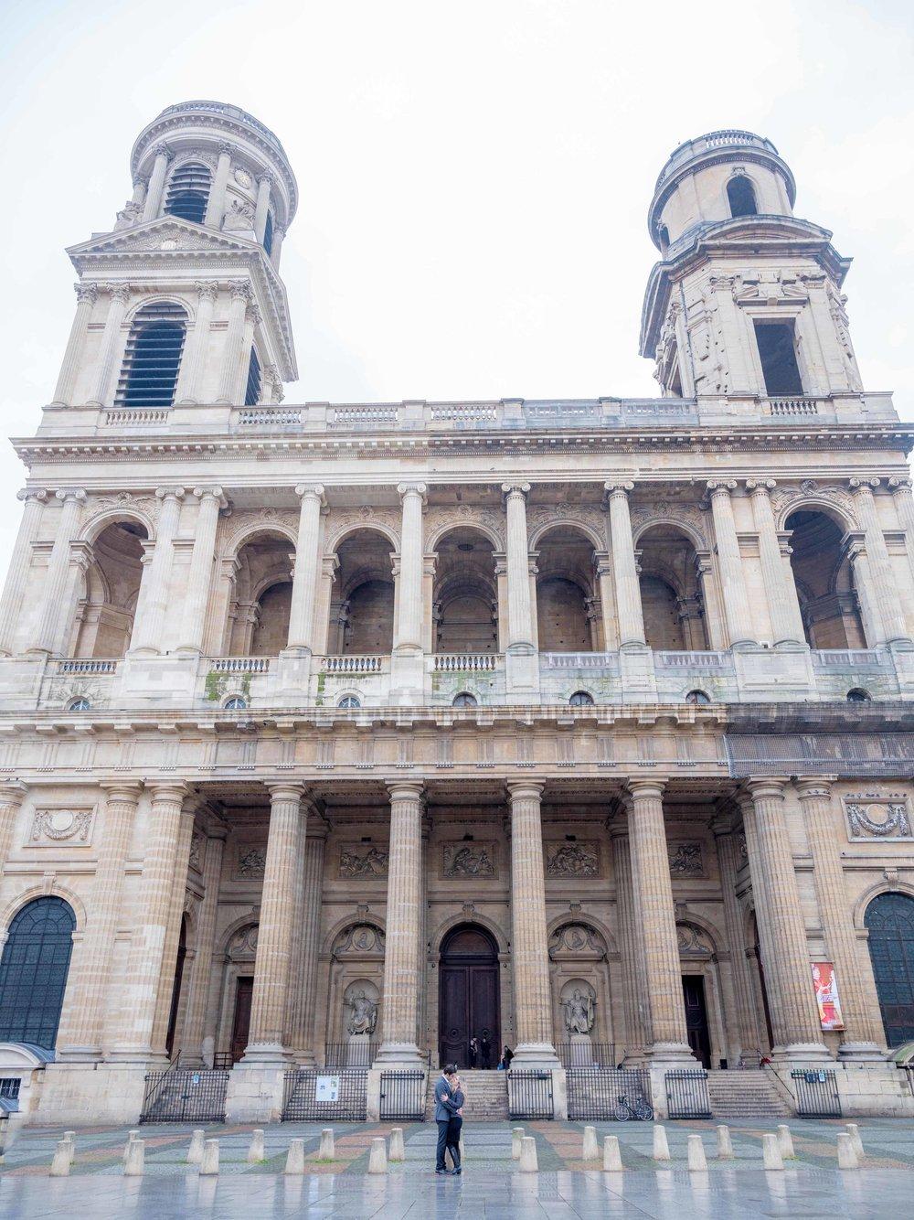 st sulpice church paris france surprise proposal couples session
