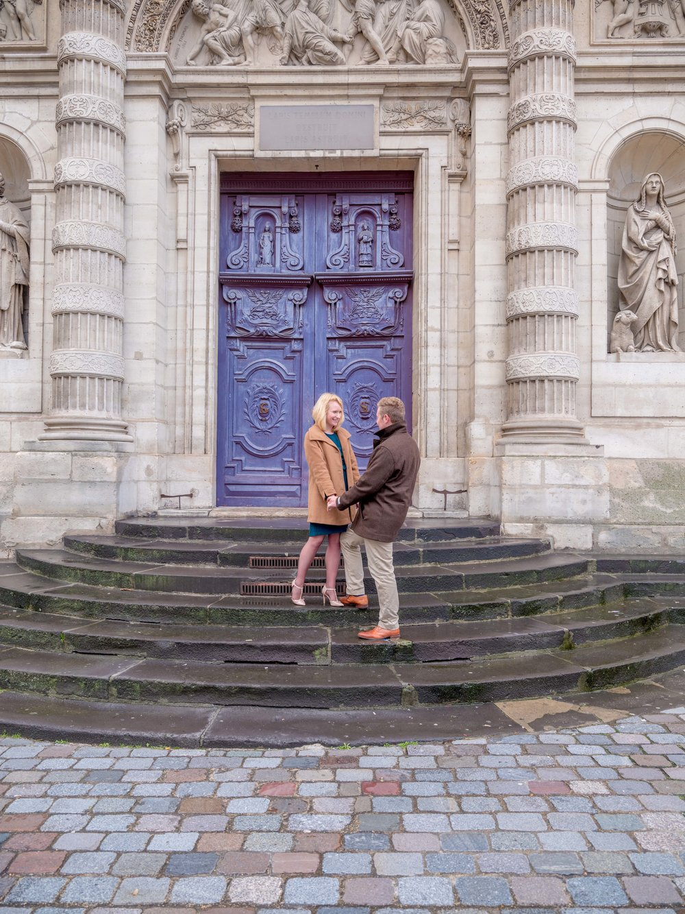 Paris is filled with amazing colored doors, it's a great way to add color on a gloomy day!