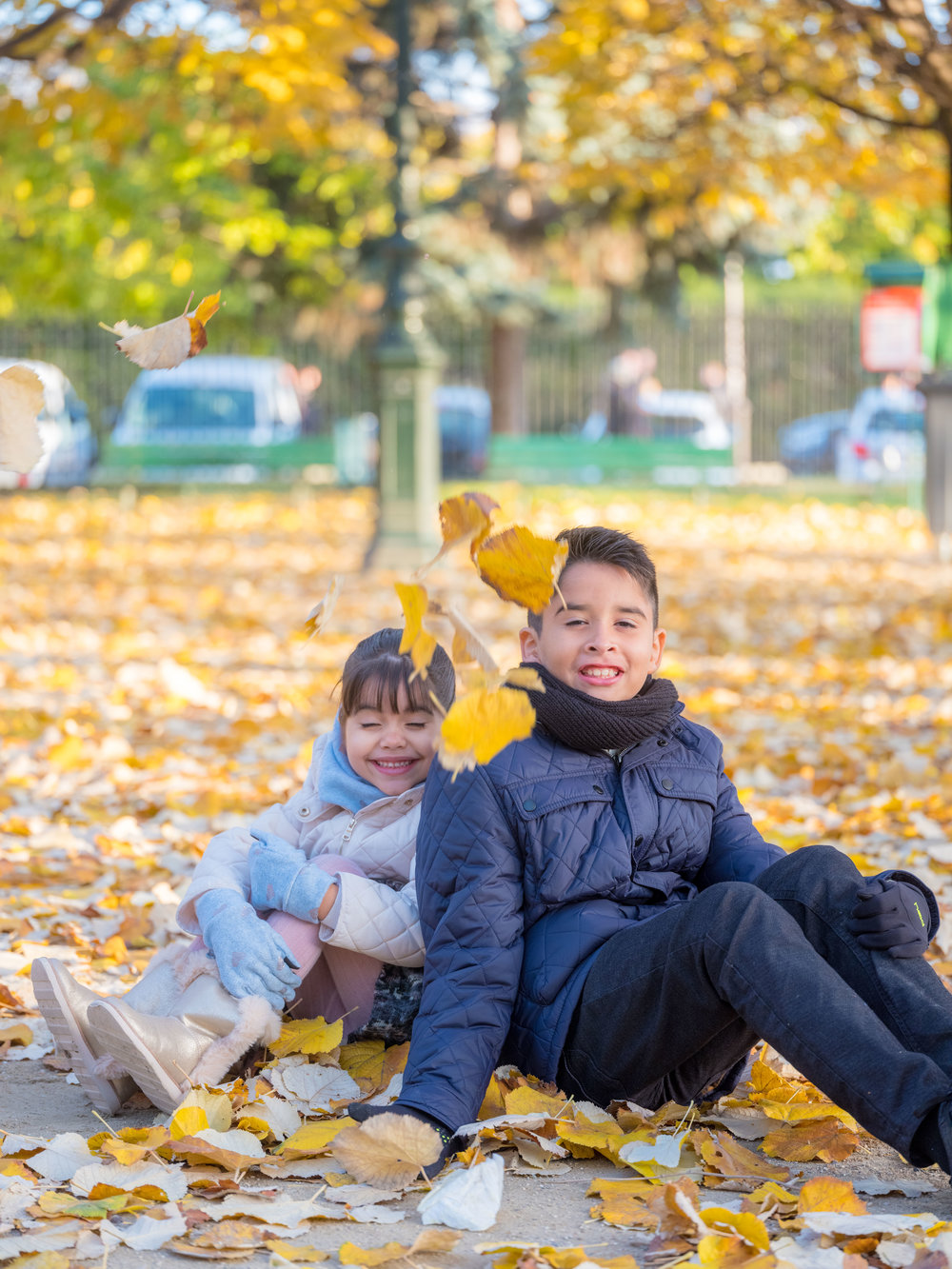 Family time in Paris in autumn, so much amazing color