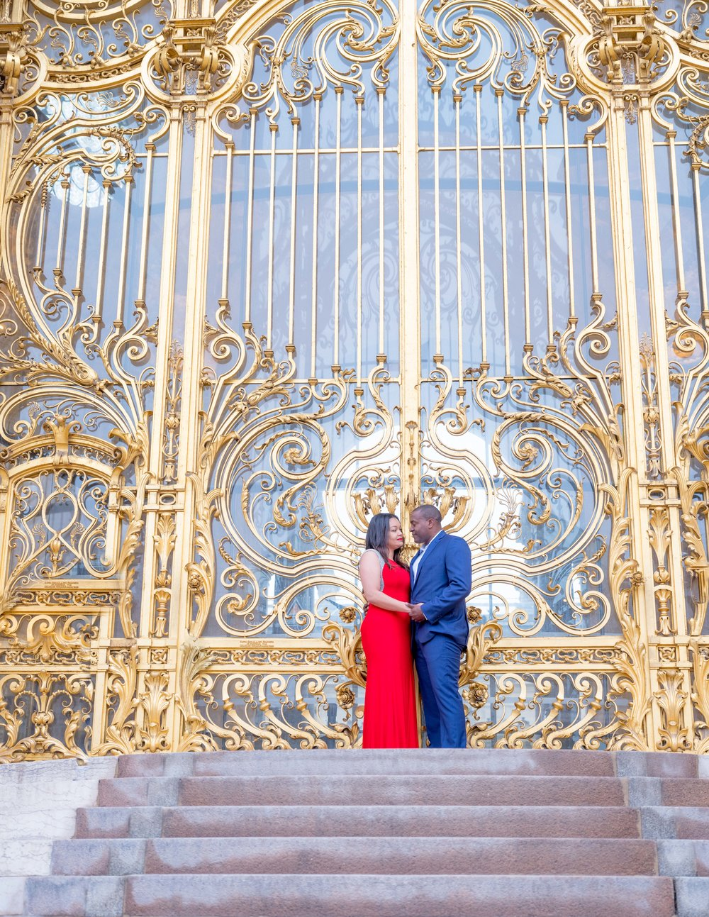 Golden dates and a red dress, color galore!