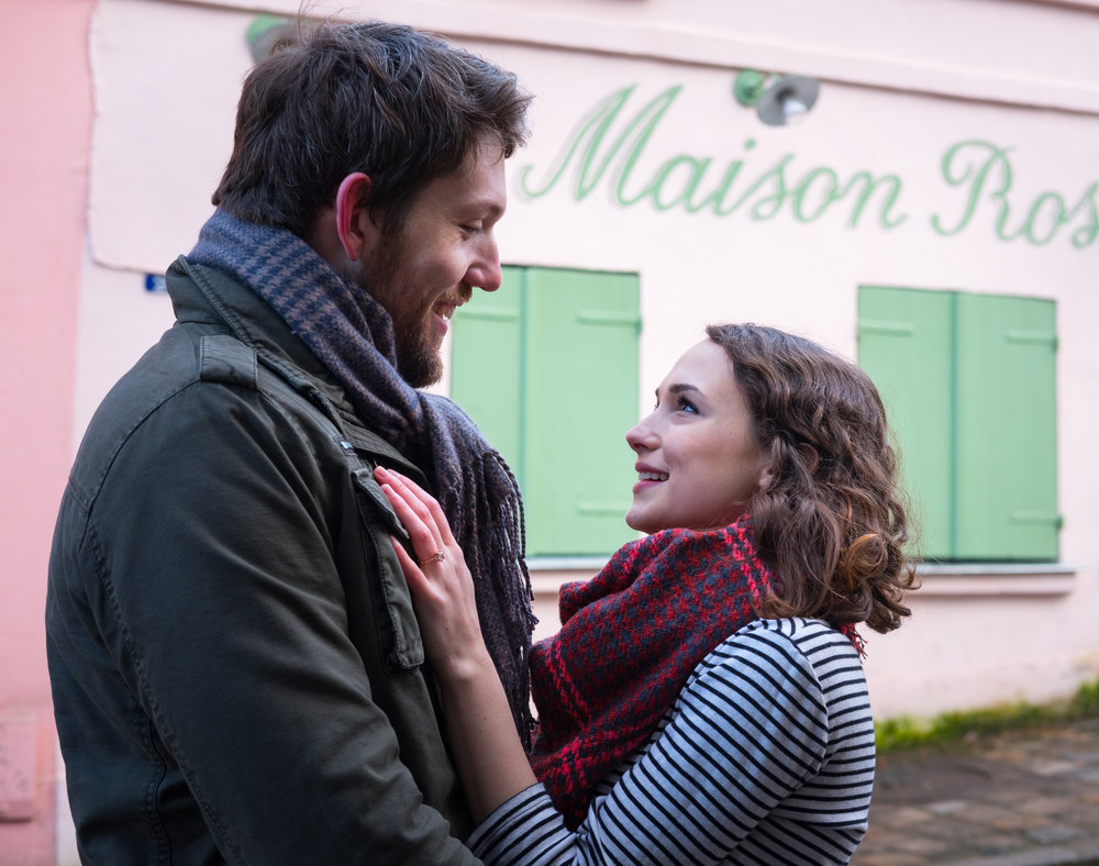 charming surprise proposal montmartre paris france