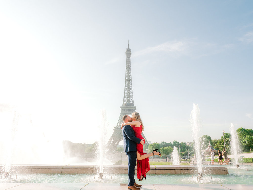 Very special surprise proposal & engagement at the Eiffel Tower & Louvre -