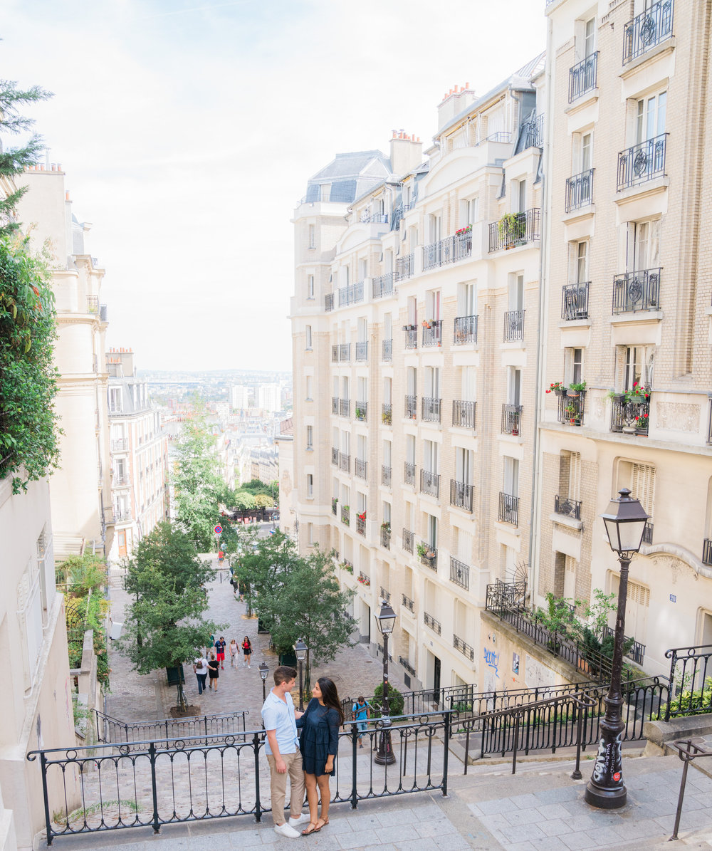 stunning and charming parisian photo shoot for a couple in love in montmartre, paris france