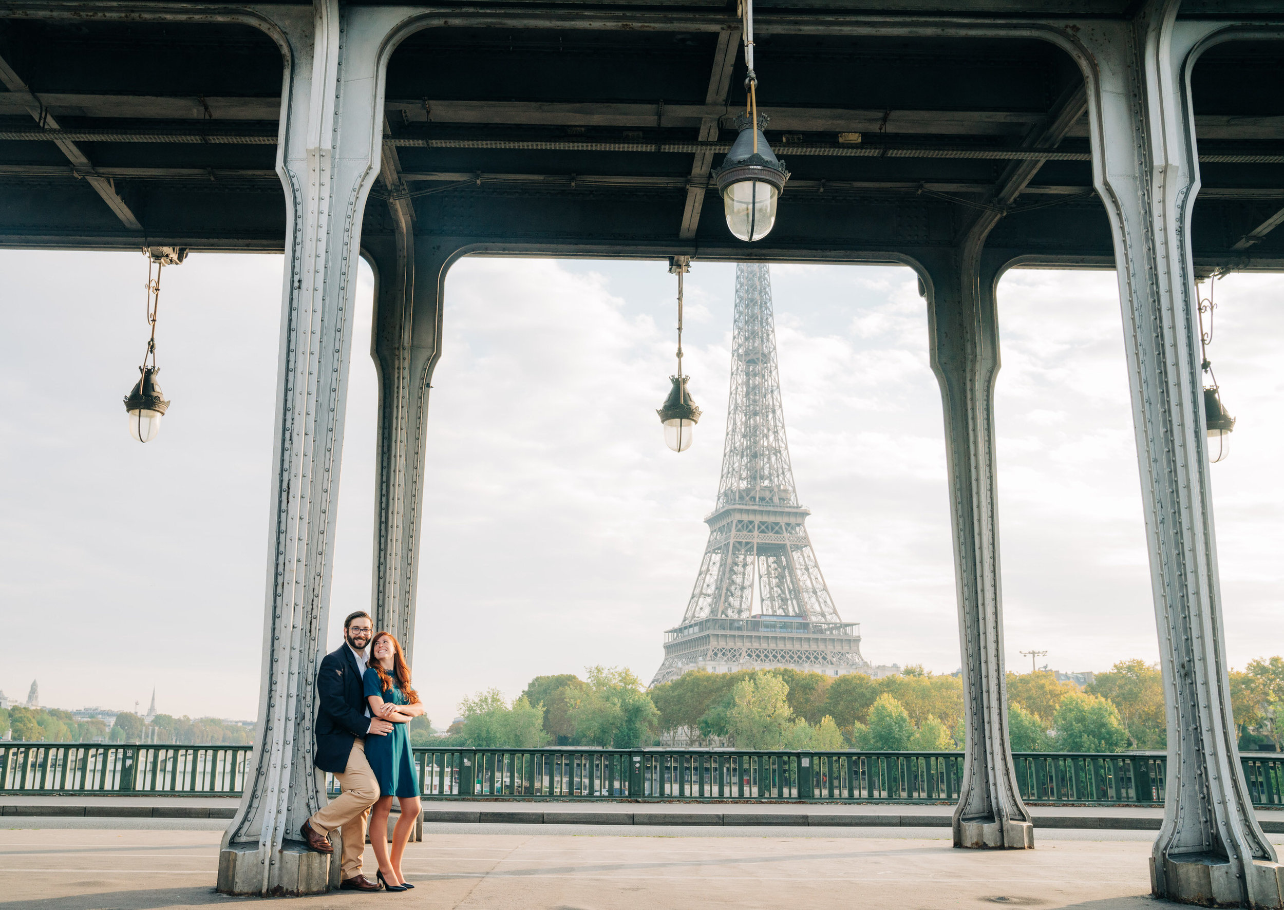 Delightful and romantic engagement session at the Eiffel Tower and Louvre