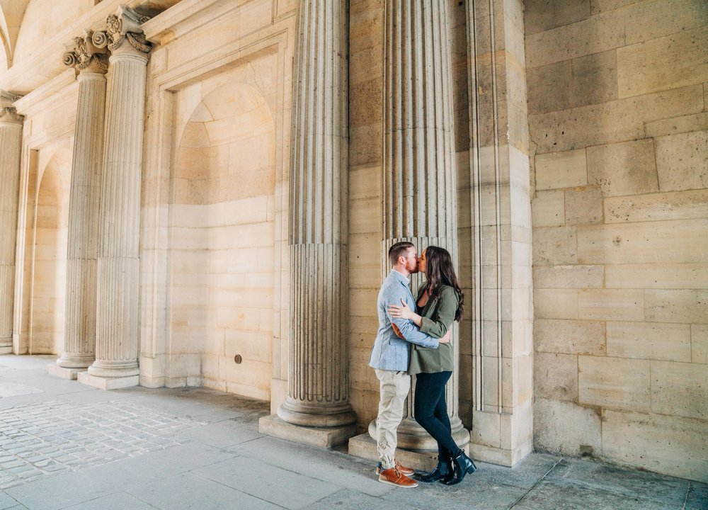 engagement photo shoot at the louvre museum in paris france