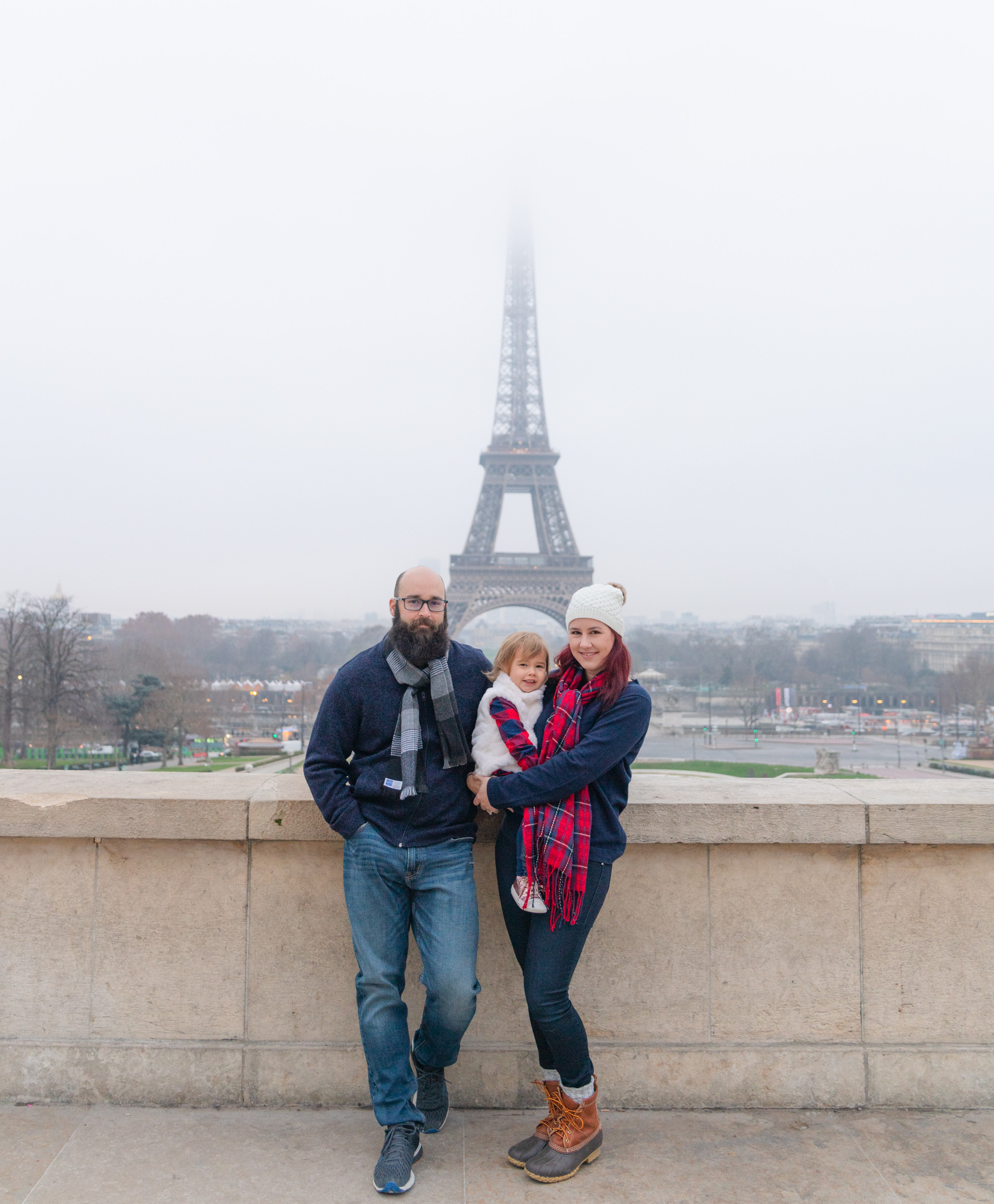 Wonderful family morning at the Eiffel Tower