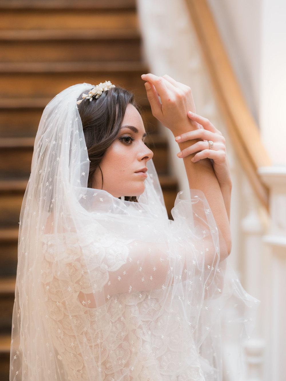 beautiful vintage bridal couture by laure de sagazan in paris france