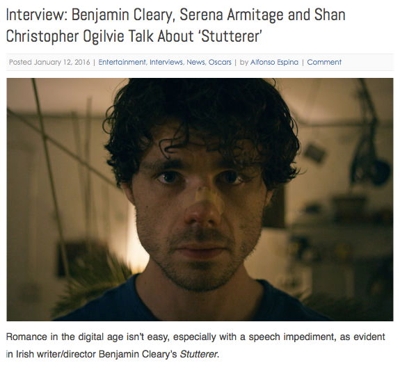 Screen Picks. Stutterer Interview.