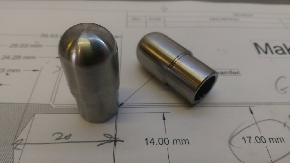 Precision machined bike components, material - stainless 17-4PH