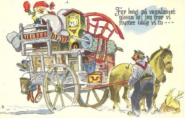 "GUNNAR BRATLIE: NISSEN PÅ LASSET - ST.""NUSFJORD"" 1953"