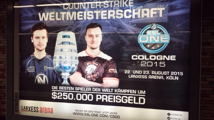 ESPORTS BILLBOARDS TAKING OVER COLOGNE DURING GAMESCOM