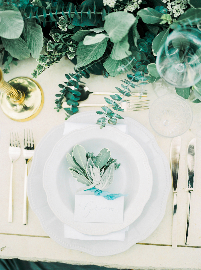 Groom Table Setting | | Lily & Sage | Bespoke Wedding Planning & Styling | UK & Europe