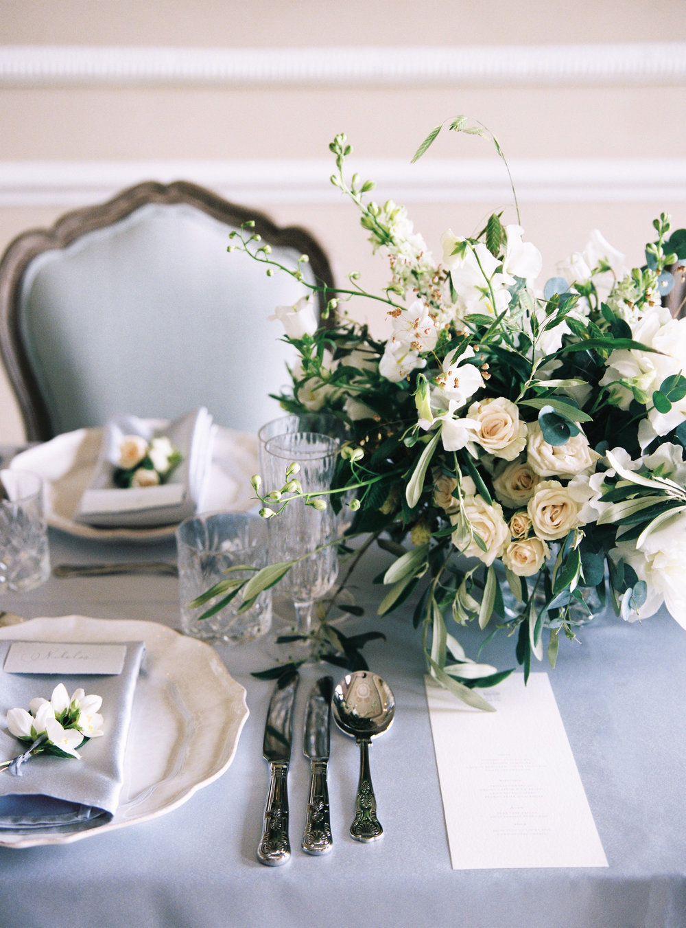 Luxury Wedding Planner UK | A Timeless English Inspired Editorial with Georgian Blue | Cotswolds Wedding White and Silver Toned Green Neutral Tones | The Royal Crescent Hotel Bath | Alexander J Collins Photography 4 .jpg