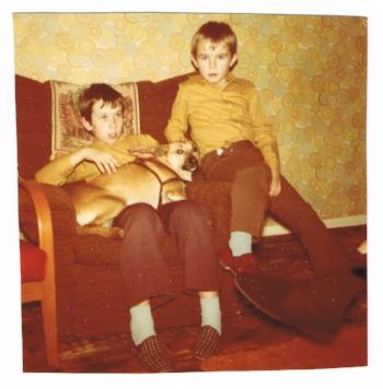 "I am looking back at the 1970s in Luton, and appealing to the wider community to share their memories and artefacts for inclusion in the show ""The 1970s Were Here"".  Here is one of me and my brother, at home in 1975."