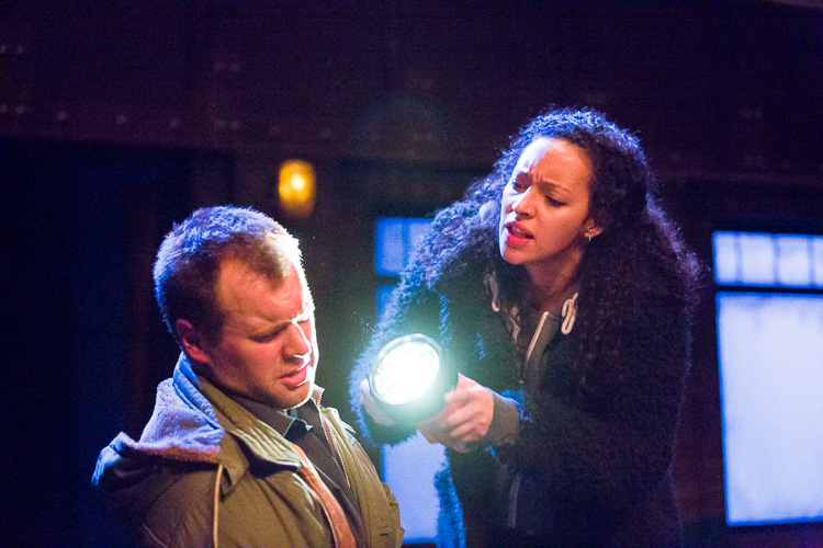 Aimee Powell as Salma and Oliver Davis as Tom, in 'Night Light' written by Nadia Davids, directed by Yasmin Sidhwa. Photograph: Fisher Studios;