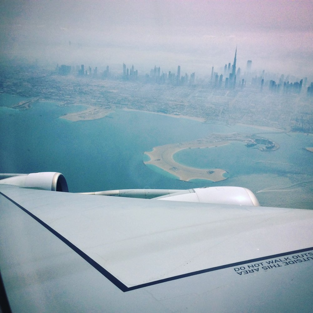 Over Dubai. Despite Landing to refuel, I don't think I can say I really visited Dubai.