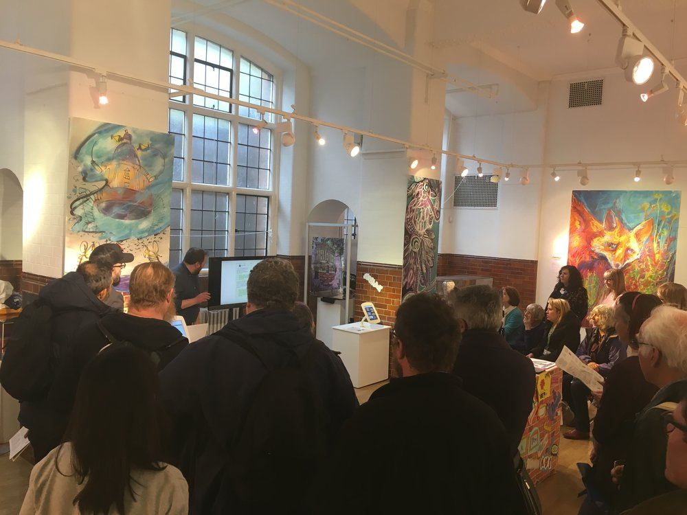 Oxford: What The Walls Say launch event 05/04/2018 (credit Tom Milnes)