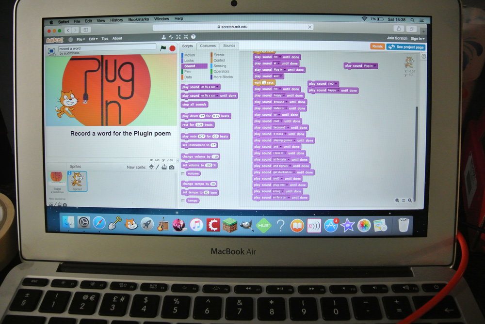 Using scratch to interact
