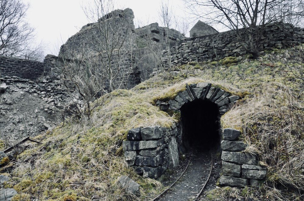 The entrance to a Lake District mine.