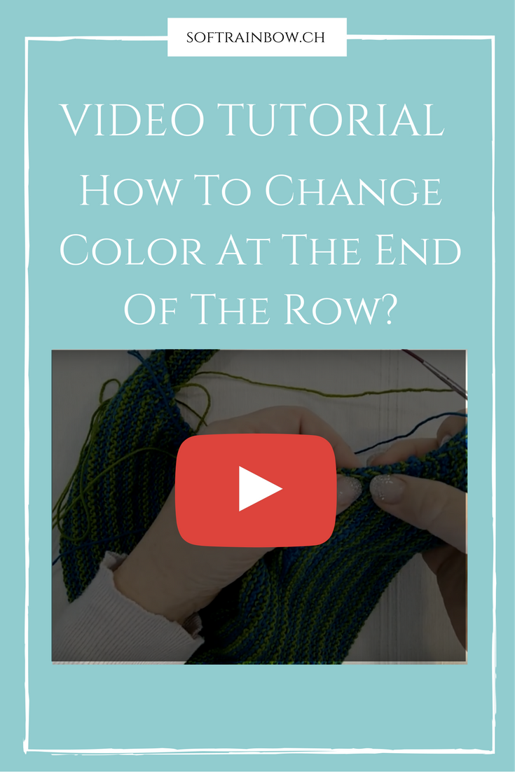 Knitting video tutorial - color change - end of the row