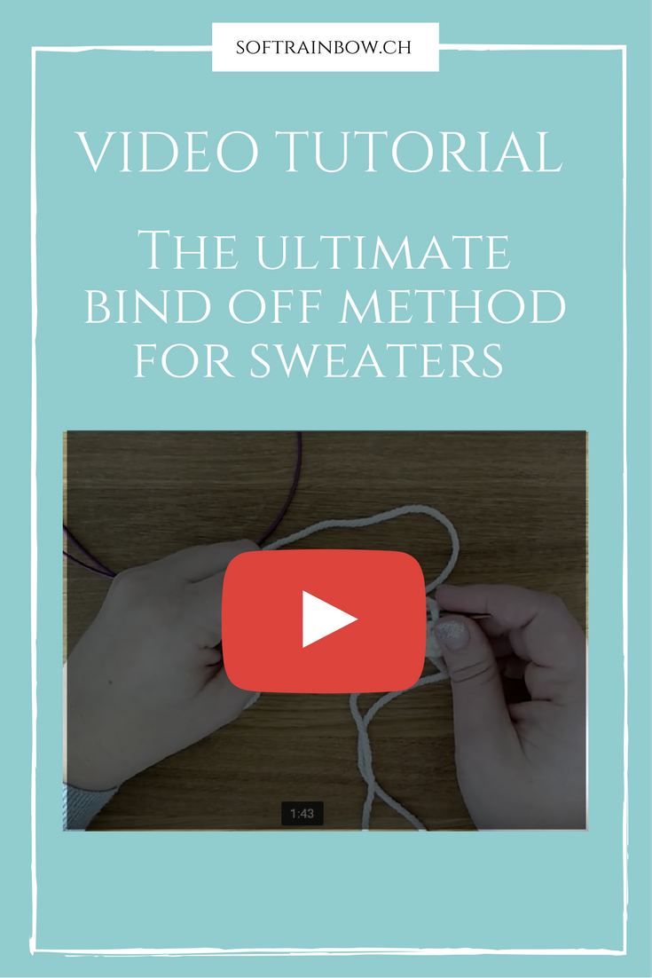 Knitting video tutorial - sweater bind off