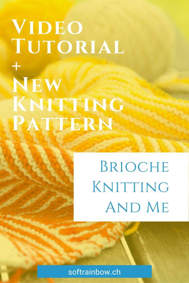 Brioche knitting - why I love? Working on a shawl knitting pattern with brioche stitch and stripes. New shawl knitting pattern release: Tourlaville.