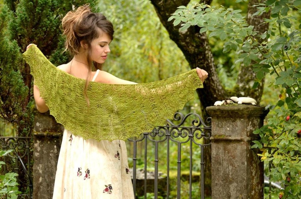 Example for crescent shape shawl:  Wildspitz Shawl