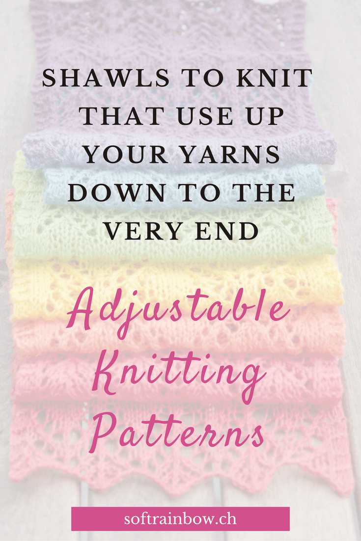 Adjustable knitting patterns