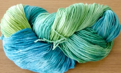 The same yarn in skein....