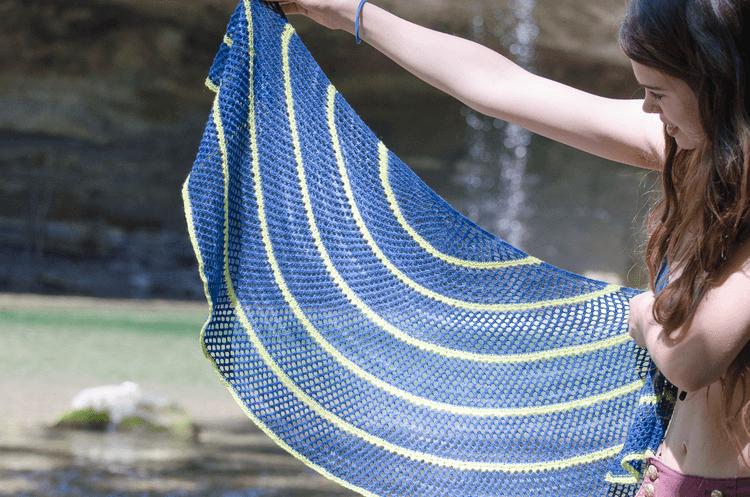 Lapis Lazuli Shawl