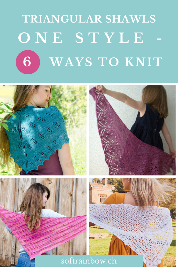 Triangular Shawls: One Style - 6 Ways To Knit
