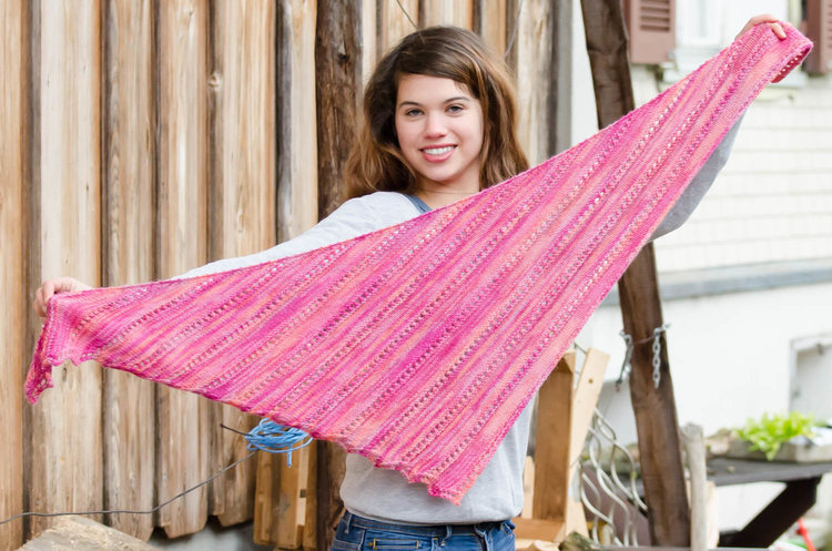 Candied Apples Shawl — Soft Rainbow Designs - Colorful Knitting Patterns