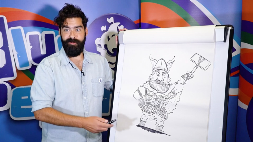 Learn how to draw Thor in this  Blue Peter video tutorial