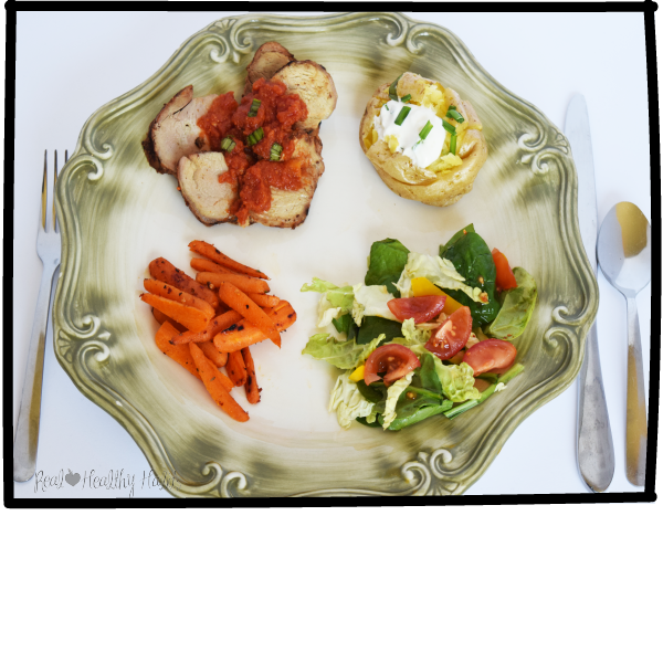 Hereu0027s my dinner served on my 11 1/2u201d Lenox Dinner plate.  sc 1 st  Real Healthy Habits & A Simple Change for Eating Less AND Feeling Amazingly Full u2014 Real ...