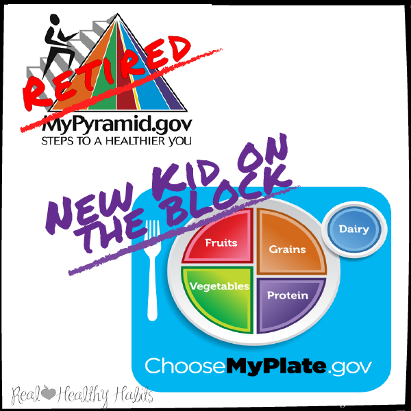 Use The Myplate Meal Template to eat Healthy.  Perfect for Kids | Make Losing Weight Simple with this Easy Formula | www.realhealthyhabits.com