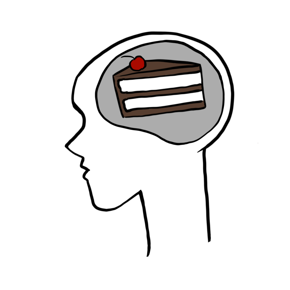 Have cake on the brain? Get control of the cravings centers of your brain with these 6 strategies. | Stop the Willpower Battles with Super Tempting Food | www.realhealthyhabits.com